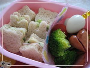 遠足・運動会、型を利用したサンドイッチ