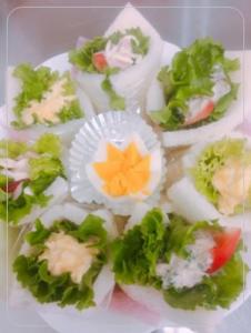 遠足・運動会、手巻きサンドイッチ