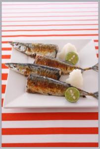 サンマ、塩焼き、フライパン編