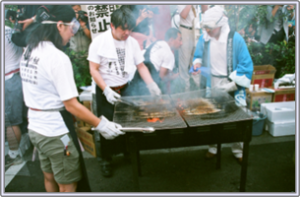 サンマまつり、品川区目黒商店街